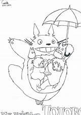 Ghibli Coloring Studio Totoro sketch template