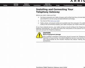 Arris Tg862 Touchstone Wireless Telephony Gateway User