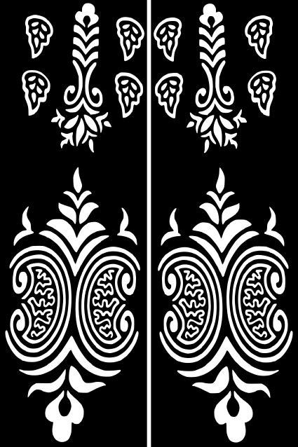 Henna Temporary Tattoo Body Art Sticker Stencil | Henna