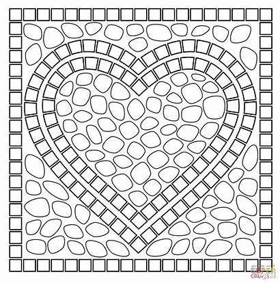 Coloring Mosaic Pages Patterns Popular