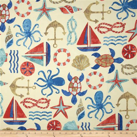Nautical Upholstery by Swavelle Indoor Outdoor Seapoint Nautical Discount