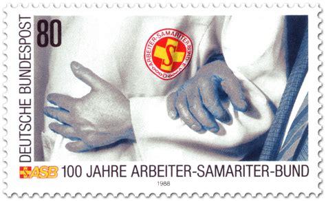 100 Jahre Arbeitersamariterbund, Briefmarke 1988