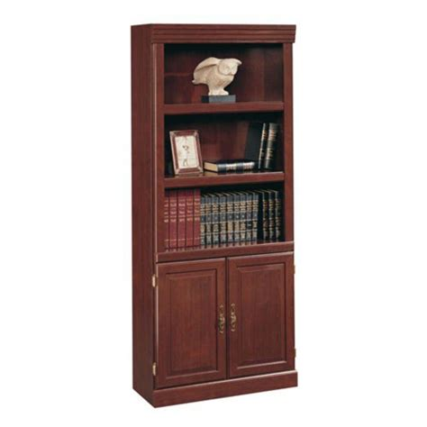 Cherry 5 Shelves Bookcase Bookshelf Furniture Wood Library