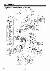 Red Max Hbz2601 08 S  N 60100101  U0026 Up Parts Diagram For