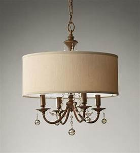Chandelier inspiring rectangular drum shade
