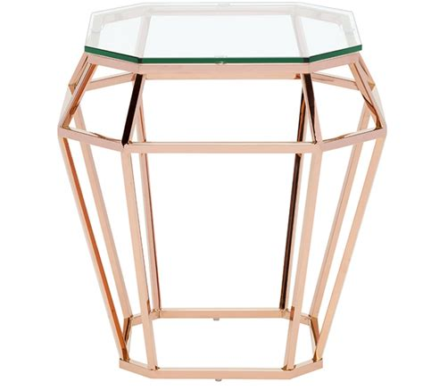 rose gold table l nuevo rose gold side table matthew izzo
