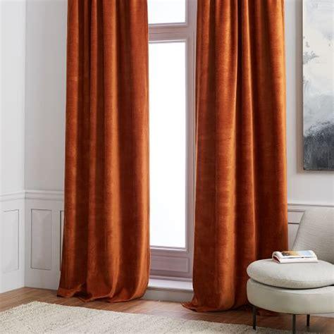 west elm velvet curtains worn velvet curtain copper west elm