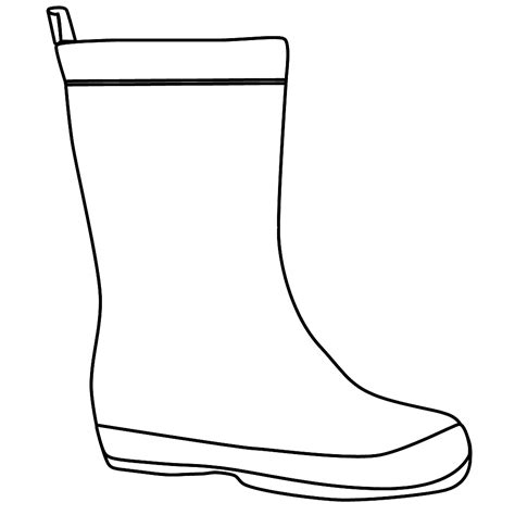 boot template boots coloring page clipart panda free clipart images