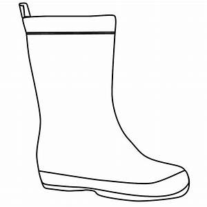 Rain Boots Clipart Black And White | Clipart Panda - Free ...