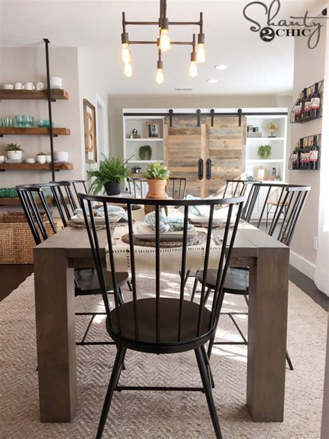 rustic modern dining room shanty  chic