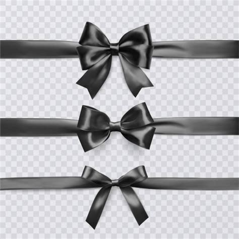 black bow illustrations royalty  vector graphics