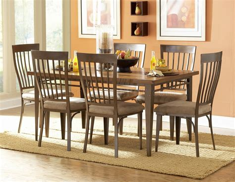 oak bronze two tone modern dining table w optional chairs