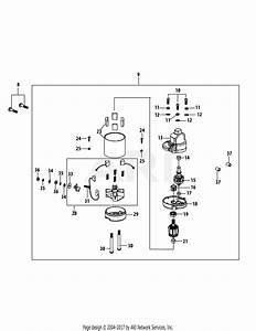 Troy Bilt 4p90jua Engine Parts Diagram For 4p90jua Starter Assembly