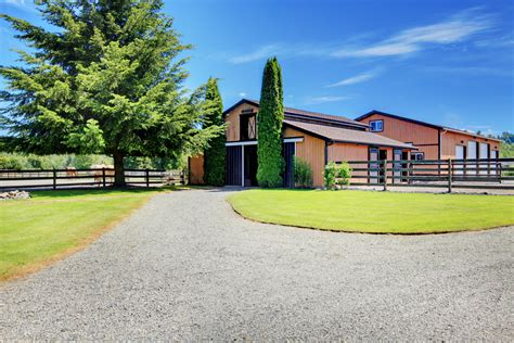 horse barn farm country stable driveway modern safe horses end keeping barns room storage health equimed healthy creating allows plenty
