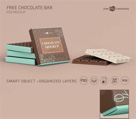 Free for personal and commercial use. Chocolate Bar Free PSD Mockup Template - Mockup Free Downloads