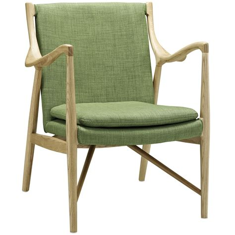 makeshift modern upholstered lounge chair with ash wood