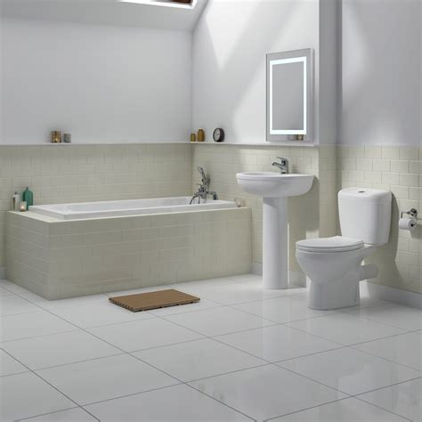 melbourne  piece bathroom suite  bath size options