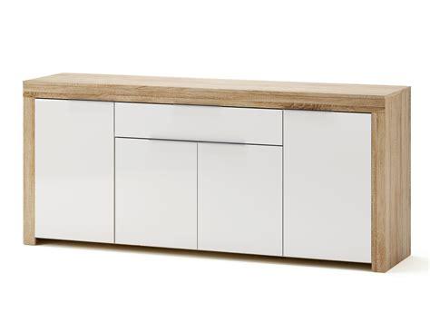 ikea meubles de bureau buffet bas 4 portes 1 tiroir blanc et bois l177 2 cm naxis
