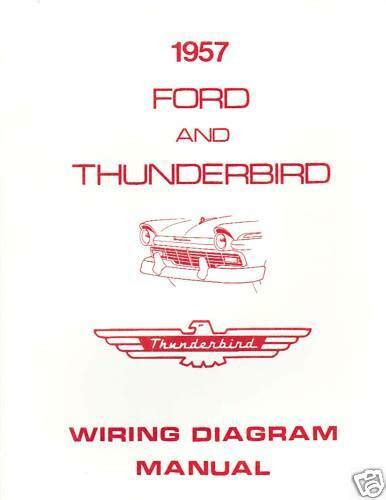 ford thunderbird wiring diagram manual ebay