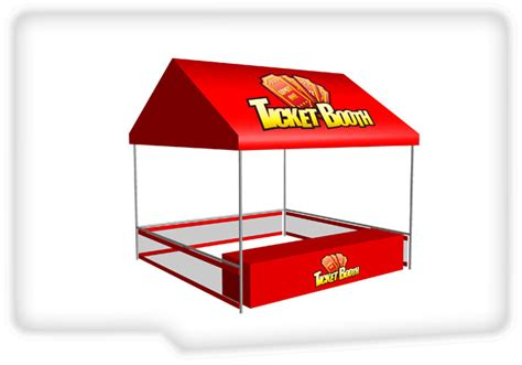 interactive game warehouse ticket booth tent