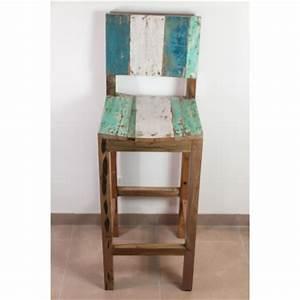 Tabouret De Bar En Bois Avec Dossier : meuble s jour tabouret en racine de teck ~ Melissatoandfro.com Idées de Décoration