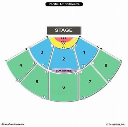 Seating Pacific Chart Amphitheatre Amphitheater Mesa Costa