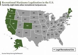 legalized weed states list 2017