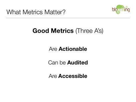 metrics matter good metrics