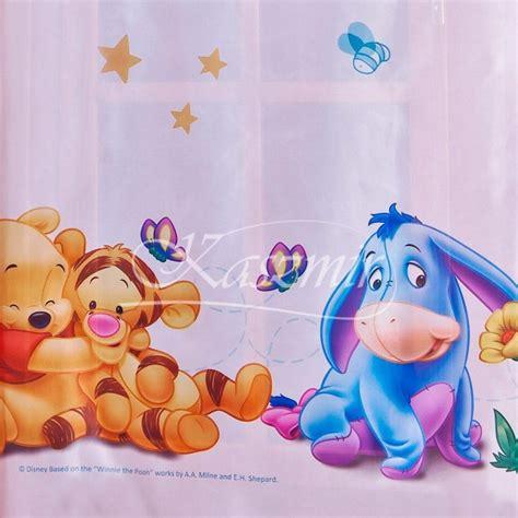 chambre bébé winnie l ourson voilages d 39 enfants winnie baby voilage en largeur