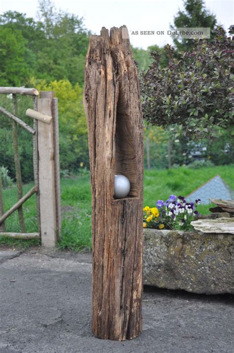 Garten Deko Eichenbalken by Windlicht Kerzenhalter Holzbalken Antik Gartendeko