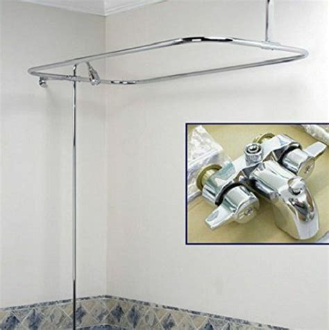 add shower to bathtub faucet shower add on kit wall mount faucet clawfoot tub riser