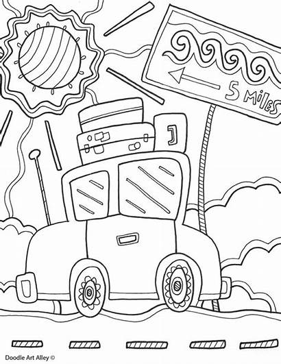 Coloring Pages Summer Doodle Printable Summertime Printables