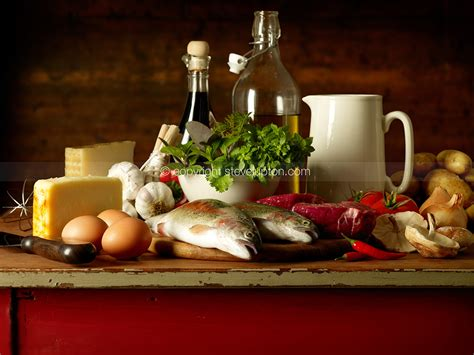 cuisine and cook fresh cooking ingredients stock food and drink