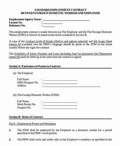 employment contract template 9 free sample example With standard contract of employment template