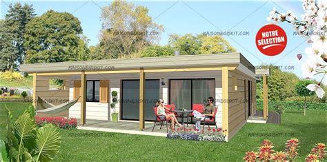 plan de maison plain pied 3 chambres avec garage maison bois moderne 2 chambres terrasse et toit plat végétal