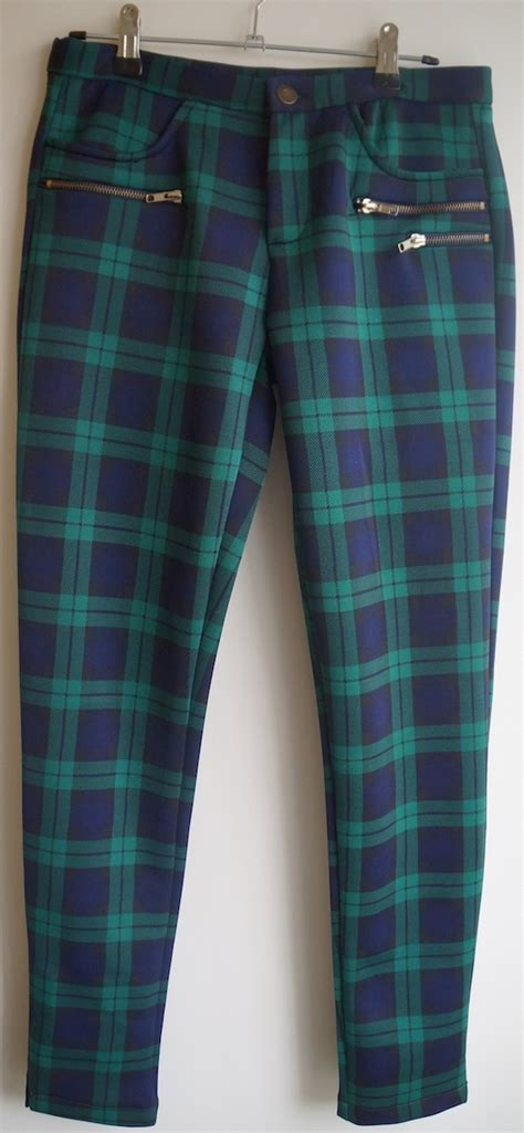 Scuba Green/Blue Plaid Pants on Storenvy