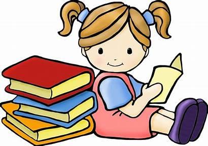 Books Reading Clip Children Clipart