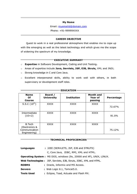sle resume php developer fresher resume ixiplay free