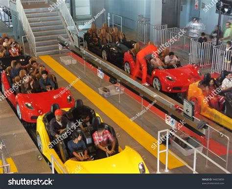 Take on the new ferrari world abu dhabi zip line, and pierce through the world's highest roller coaster loop for a rush of that pure #ferrarifeeling! Abu Dhabi, Uae - Dec 22: Roller Coaster At Ferrari World On Yas Island In Abu Dubai In The Uae ...