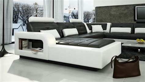 canapé panoramique en cuir canapé d 39 angle panoramique leana en cuir italien design