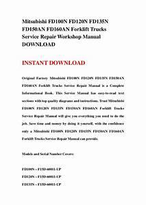 Manual Mitsubishi Forklift Fd 150