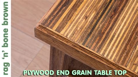 Making A Plywood End Grain Table Top From Offcuts  Part 1