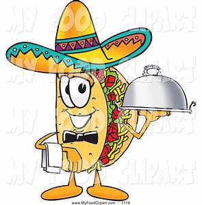 Food Clip Art of a Happy Taco Mascot Cartoon Character ...