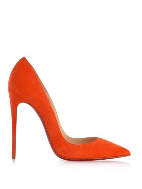 brain atwood shoes lyst christian louboutin so kate 120mm pumps in orange