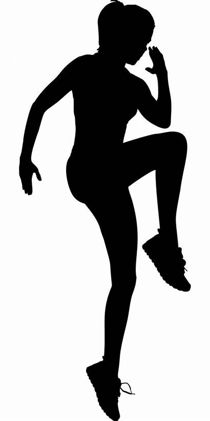 Silhouette Cartoon Exercise Clipart Fitness Workout Woman