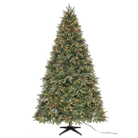 7 5 ft christmas tree with 1000 lights martha stewart living 7 5 ft andes fir quick set