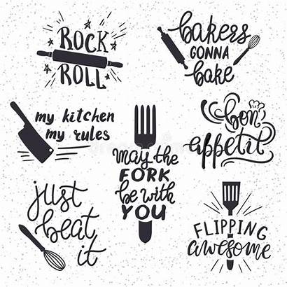 Sayings Kitchen Funny Drawn Restaurant Hand Clipart