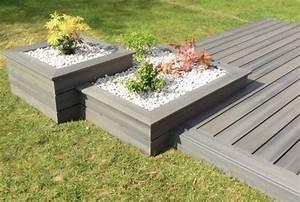 les 25 meilleures idees de la categorie porches arrieres With jardin paysager avec piscine 5 terrasse en bois composite fiberon xtrem galaxy jardin