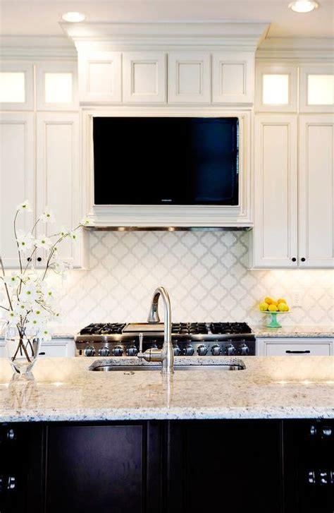 kitchen hood  tv niche transitional closet