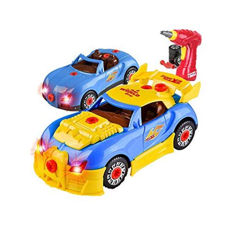 Take Apart Toy Racing Cartoy Car Comes With Engine Sounds